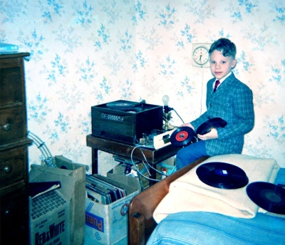 Me with my electric record-playing equipment.