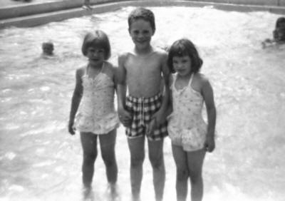 Louise, Paul and Mary Joan at the Kiwanis pool in St. Johnsbury.