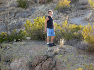 Zach hiking the Superstitions