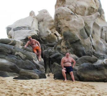 Paul and Michael at Cabo San Lucas.