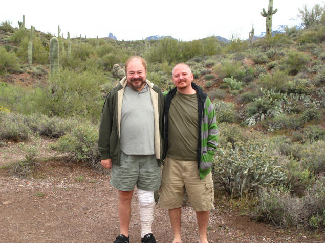 Jason and I on an April road trip to the Superstition Mountains.