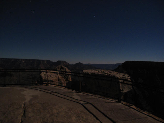 From Mather Point by moonlight.
