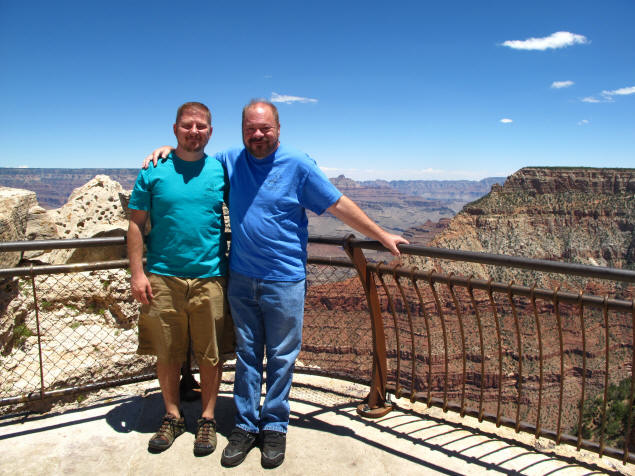 Jason and Paul at Mather Point.
