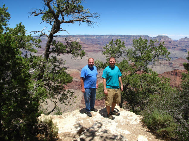 Me and Jason overlooking Grand Canyon.