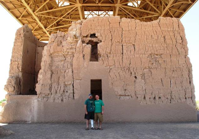 Paul and Jason at Casa Grande Ruins.