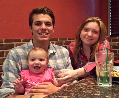 Zach, Gianna, and Cailey who visited from West Virginia.