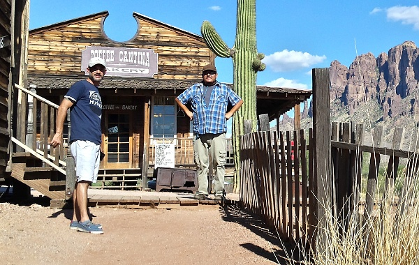 John and Keith on a visit to Goldfield.