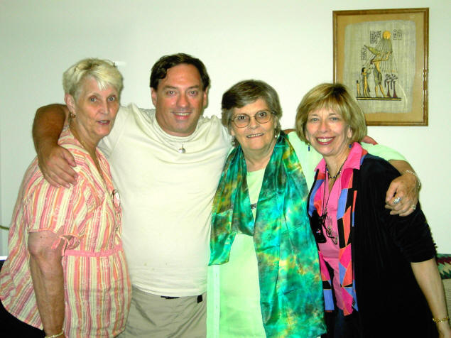 3 gals and a gob: Dorothy Ann, Michael, Surya, and Dr. Barabara Lafford in 2006.