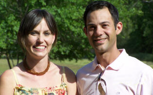 Rachel Madsen and John Cilwa, sister-in-law-to-be and brother of the bride.