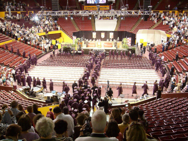 Sun Devils' Stadium decked out for Convocation.