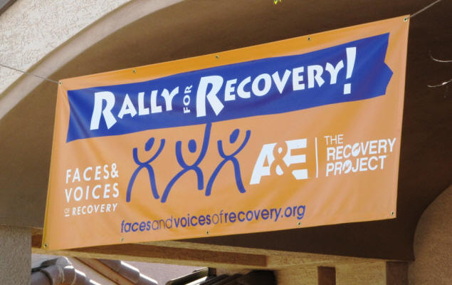Rally For Recovery banner.