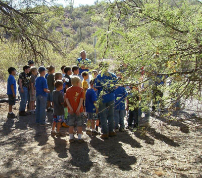 Cub Scouts ready for a hike.