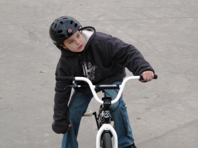 Zach on his BMX.