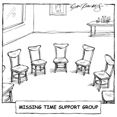 Missing Time Support Group (chairs are empty)