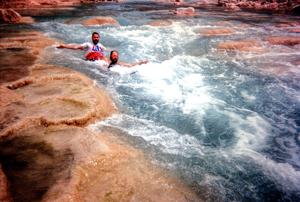 Playing in the Little Colorado River