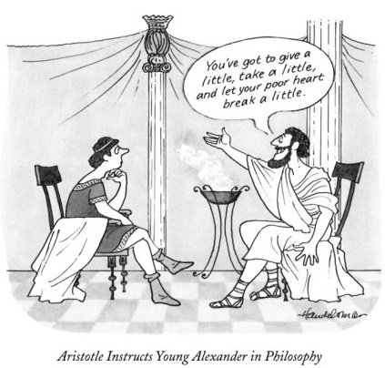 Aristotle teaches young Alexander philosophy.