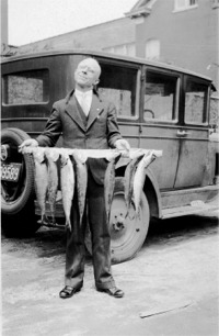 My great-grandfather, Nelson Brown, after a particularly successful fishing trip.