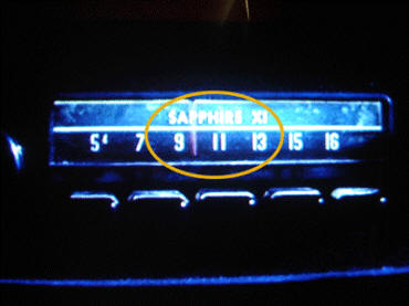 "This car radio from Gremlins shows '9-11' on the dial, as well as ""Sapphire"" (September's birthstone) ""XI"" (Roman number for '11')"